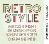 font alphabet design retro type ... | Shutterstock .eps vector #648328864