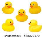 cute yellow rubber duck... | Shutterstock . vector #648329170