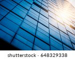 closeup of glass wall of modern ... | Shutterstock . vector #648329338