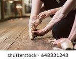 young ballerina or dancer girl...   Shutterstock . vector #648331243