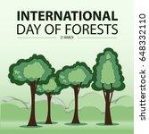 green tree paper cut wood... | Shutterstock .eps vector #648332110