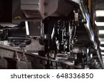 wheels on the rails of... | Shutterstock . vector #648336850