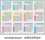 planner  calendar for 2018 year.... | Shutterstock .eps vector #648339064