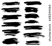 ink vector brush strokes set.... | Shutterstock .eps vector #648344464