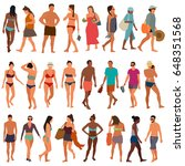 beach people vector illustration | Shutterstock .eps vector #648351568
