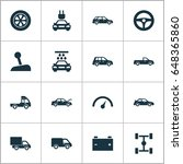 automobile icons set.... | Shutterstock .eps vector #648365860
