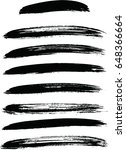 black ink vector brush strokes .... | Shutterstock .eps vector #648366664