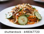 enjoy tasty vietnam salad with... | Shutterstock . vector #648367720