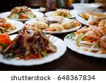 big dinner menu in traditional... | Shutterstock . vector #648367834