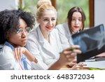 multi ethnic group of medical... | Shutterstock . vector #648372034
