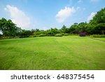 grassland landscape and... | Shutterstock . vector #648375454