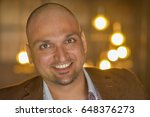 closeup headshot portrait ... | Shutterstock . vector #648376273