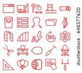 line icons set. set of 25 line...   Shutterstock .eps vector #648377620