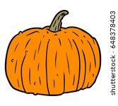 cartoon halloween pumpkin | Shutterstock .eps vector #648378403