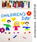 colorful drawing  children's... | Shutterstock . vector #648389518