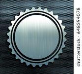 grunge perforated metal texture ... | Shutterstock . vector #648394078