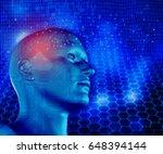 3d render of a modern... | Shutterstock . vector #648394144