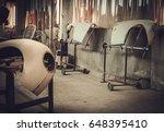 classic car bodykit parts in...   Shutterstock . vector #648395410