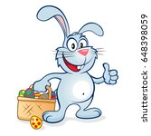 cute and happy easter bunny... | Shutterstock . vector #648398059