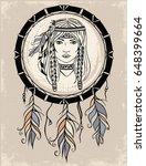 Native American Girl And...