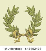 vintage vector laurel wreath... | Shutterstock .eps vector #648402439