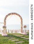 beach wedding setup | Shutterstock . vector #648402574
