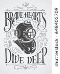 old diving helmet with rough... | Shutterstock .eps vector #648402709