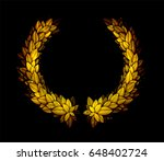 gold sparkling laurel wreath on ... | Shutterstock .eps vector #648402724