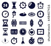 clock icons set. set of 25... | Shutterstock .eps vector #648407416