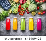 healthy red  orange  green ... | Shutterstock . vector #648409423