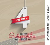 happy 4th of july  ... | Shutterstock . vector #648411634