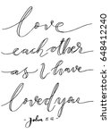 love each other as i have loved ... | Shutterstock .eps vector #648412240
