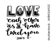 love each other as i have loved ... | Shutterstock .eps vector #648416410