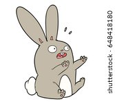 cartoon startled rabbit | Shutterstock .eps vector #648418180