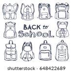 hand drawn vector set of sketch ...   Shutterstock .eps vector #648422689