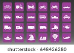 transport vehicles vector icon... | Shutterstock .eps vector #648426280