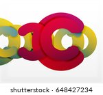 circle geometric abstract... | Shutterstock . vector #648427234