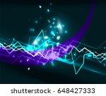 neon lightning background... | Shutterstock . vector #648427333