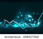 neon lightning background... | Shutterstock . vector #648427360