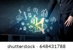 man touching technology smart... | Shutterstock . vector #648431788