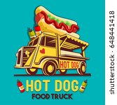 food truck street logo for hot... | Shutterstock .eps vector #648441418