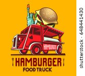 food truck logotype for usa us... | Shutterstock .eps vector #648441430
