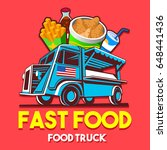 Food Truck Logotype For Fast...