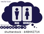 man and woman icon vector | Shutterstock .eps vector #648442714