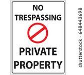 No Trespassing Private Propert...