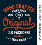 vintage denim typography for t...   Shutterstock .eps vector #648445756