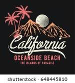 california vector illustration... | Shutterstock .eps vector #648445810