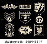 set of military and army badge... | Shutterstock .eps vector #648445849