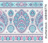 indian floral paisley medallion ... | Shutterstock .eps vector #648448774