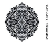 indian floral paisley medallion.... | Shutterstock .eps vector #648448846